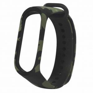 Ремешок для фитнес-браслета Xiaomi Mi Band 3 / 4 – Camouflage Black / Green