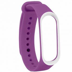 Ремешок для фитнес-браслета Xiaomi Mi Band 3 / 4 – Purple / White