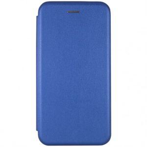 Кожаный чехол-книжка 360 с визитницей для Huawei P Smart Z – Blue