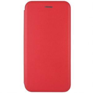 Кожаный чехол-книжка 360 с визитницей для Xiaomi Redmi 8 / 8A – Красный