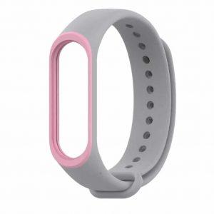 Ремешок для фитнес-браслета Xiaomi Mi Band 3 / 4 – Gray / Pink
