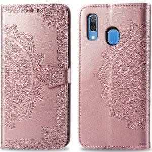 Кожаный чехол-книжка Art Case с визитницей для Samsung Galaxy A20 / A30 2019 – Розовый