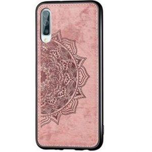 TPU+Textile чехол Mandala с 3D тиснением для Samsung Galaxy A50 2019 (A505) / A30s 2019 (A307) – Розовый