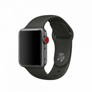 Ремешок силиконовый для Apple Watch 38 mm / 40 mm / SE 40 mm №7 – Black