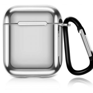 Чехол для наушников Electroplate TPU Cover Case для Apple Airpods – Silver