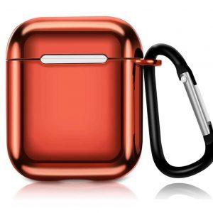 Чехол для наушников Electroplate TPU Cover Case для Apple Airpods – Red