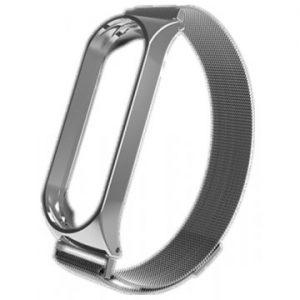 Ремешок Milanese Loop для фитнес-браслета Xiaomi Mi Band 3 / 4 -Silver