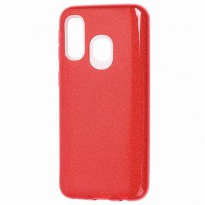 Cиликоновый (TPU+PC) чехол Shine с блестками для Samsung Galaxy A40 2019 (A405) – Красный