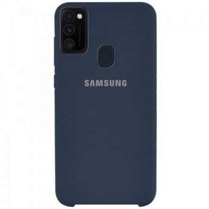 Оригинальный чехол Silicone Case с микрофиброй для Samsung Galaxy M30s (M307F) – Синий / Midnight Blue