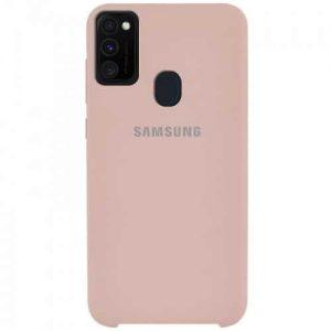 Оригинальный чехол Silicone Case с микрофиброй для Samsung Galaxy M30s (M307F) – Розовый / Pink Sand