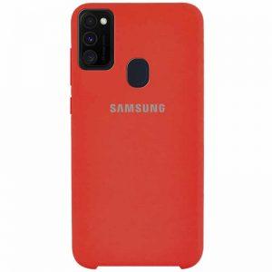 Оригинальный чехол Silicone Case с микрофиброй для Samsung Galaxy M30s (M307F) – Красный / Red