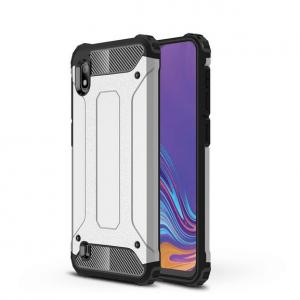Противоударный бронированный чехол Spigen для Samsung Galaxy A10 2019 (A105) – Серебряный