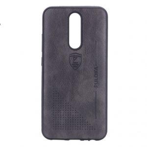 Кожаный чехол-накладка PULOKA Desi для Xiaomi Redmi 8 / 8A – Черный