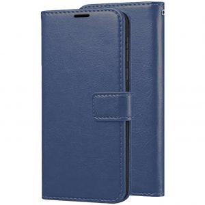 Кожаный чехол-книжка Wallet Glossy с визитницей для Xiaomi Mi 6x / Mi A2 – Синий