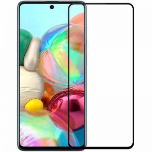 Защитное стекло 10D Full Glue Cover Glass на весь экран для Samsung Galaxy A71 / Note 10 Lite / M51 – Black