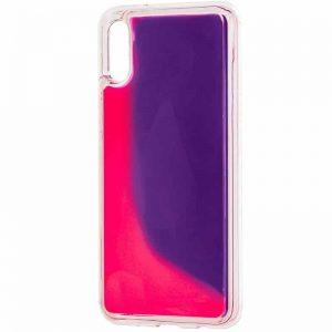 Неоновый чехол Neon Sand светящийся в темноте для Xiaomi Redmi 7A – Фиолетовый / Розовый