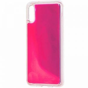 Неоновый чехол Neon Sand светящийся в темноте для Xiaomi Redmi 7A – Розовый