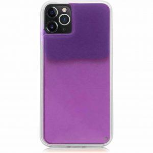 Неоновый чехол Neon Sand светящийся в темноте для Iphone 11 Pro Max – Темно-фиолетовый