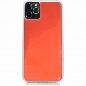 Неоновый чехол Neon Sand светящийся в темноте для Iphone 11 Pro Max – Оранжевый