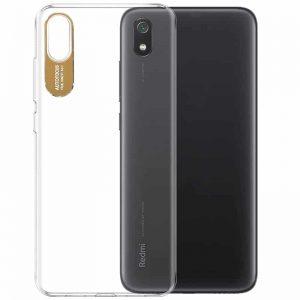 Прозрачный силиконовый TPU чехол Epic clear flash для Xiaomi Redmi 7A – Золотой