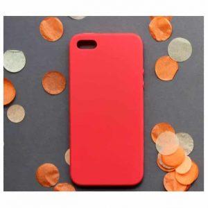 Матовый силиконовый (TPU) чехол для Iphone  5 / 5s /SE – Красный