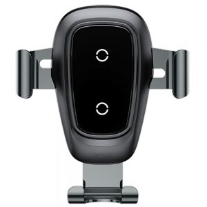 Автомобильный держатель Wireless Charger Baseus Metal Gravity Car Mount (Air Outlet Version) 1.7A QC3.0 – Silver