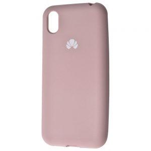 Оригинальный чехол Silicone Cover 360 с микрофиброй для Huawei Y5 2019 / Honor 8s – Pink sand