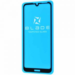 Защитное стекло 3D (5D) Blade Glass Full Glue на весь экран для Huawei Y6 2019 / Honor 8A – Black