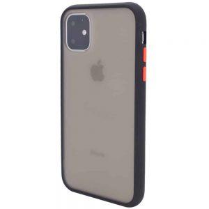 Чехол TPU+PC Soft-touch with Color Buttons для Iphone 11- Черный