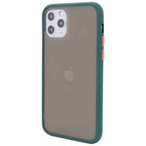 Чехол TPU+PC Soft-touch with Color Buttons для Iphone 11 Prо – Сине-Зеленый / Marine Blue