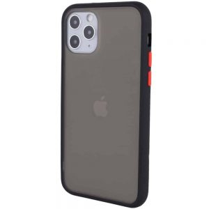 Чехол TPU+PC Soft-touch with Color Buttons для Iphone 11 Pro Max – Черный