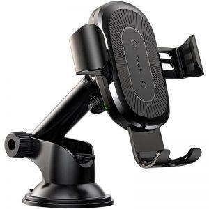 Автомобильный держатель Baseus Gravity Car Mount Wireless Charger Osculum Type – Black