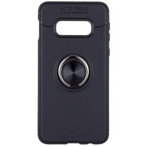 Cиликоновый чехол Deen ColorRing с креплением под магнитный держатель для Samsung Galaxy S10e (G970) – Черный