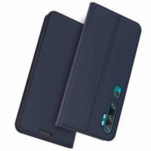 Чехол-книжка Dux Ducis с карманом для Xiaomi Mi Note 10 / 10 Pro — Синий