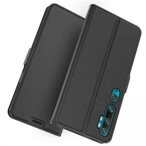 Чехол-книжка Dux Ducis с карманом для Xiaomi Mi Note 10 / 10 Pro — Черный