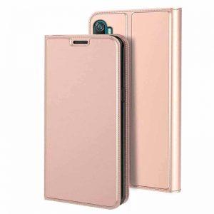 Чехол-книжка Dux Ducis с карманом для Xiaomi Mi Note 10 / 10 Pro — Rose gold
