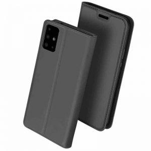 Чехол-книжка Dux Ducis с карманом для Samsung Galaxy A71 — Черный