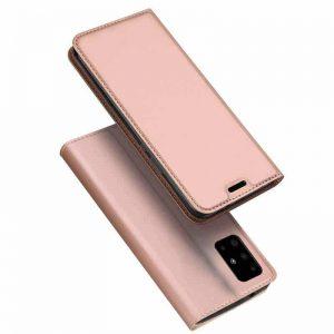 Чехол-книжка Dux Ducis с карманом для Samsung Galaxy A51 — Rose Gold