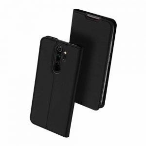 Чехол-книжка Dux Ducis с карманом для Xiaomi Redmi Note 8 Pro — Черный