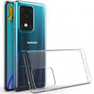 Прозрачный силиконовый TPU чехол Epic Premium Transparent для Samsung Galaxy S20 Ultra