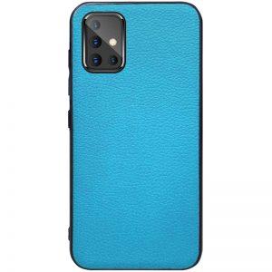 Кожаный чехол Epic Vivi series для Samsung Galaxy A51 – Голубой