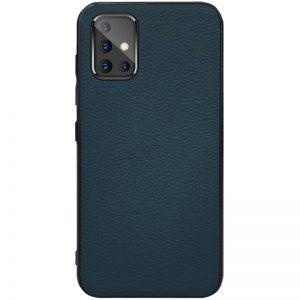 Кожаный чехол Epic Vivi series для Samsung Galaxy A51 – Зеленый / Pine green