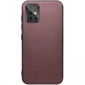 Кожаный чехол Epic Vivi series для Samsung Galaxy A51 – Коричневый