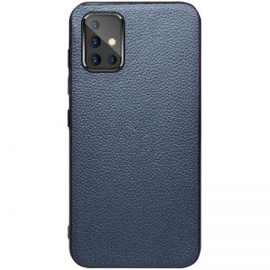 Кожаный чехол Epic Vivi series для Samsung Galaxy A51 – Синий