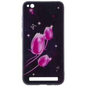 TPU+Glass чехол Fantasy с глянцевыми торцами для Xiaomi Redmi 5A – Тюльпаны