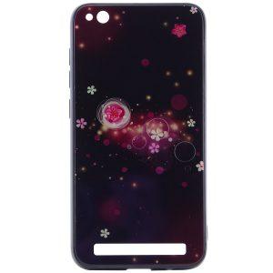 TPU+Glass чехол Fantasy с глянцевыми торцами  для Xiaomi Redmi 5A – Пузырьки и цветы