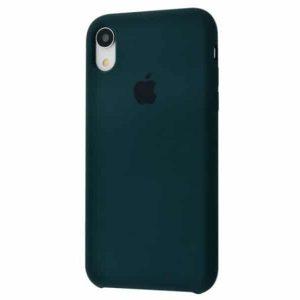 Оригинальный чехол Silicone Case с микрофиброй для Iphone XR №49 – Dark Green