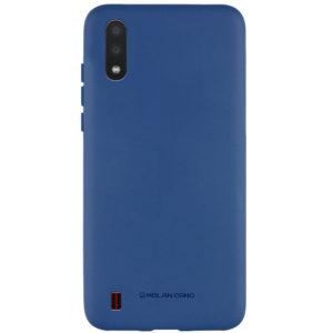 Силиконовый чехол TPU Molan Cano Smooth для Samsung Galaxy A01 — Синий