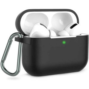 Чехол для наушников Silicone Case + карабин для Apple Airpods Pro – Серый / Dark Grey