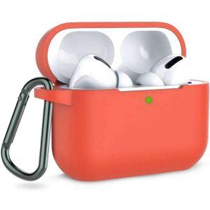 Чехол для наушников Silicone Case + карабин для Apple Airpods Pro – Персиковый / Peach